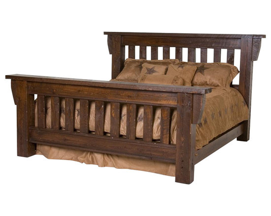 Viking Log Furniture - Barnwood Log Panel Bed (Queen - Honey Pine Barnwood) - Finish: Queen - Honey Pine Barnwood. Barnwood Collection. Mattress, bed sheet, comforter, shams, neck roll and pillows not included. Made from rough Sawn timbers to replicate the Barnwood look. Made to order in the US. Pictured in Dark Barnwood. Lifetime warranty. Queen: 84 in. W x 48 in. D x 61 in. H. King: 96 in. W x 48 in. D x 61 in. H