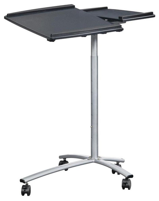 Image Result For Rolling Laptop Cart With Storage Graphite Black