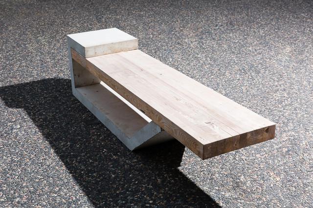 Barkman Concrete Black Locust Site-Furnishing - Modern - Outdoor Benches - by Black Locust ...