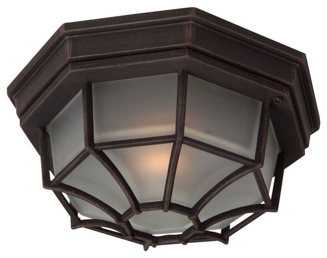 Craftmade Lighting-Z389-Bulkheads - One Light Outdoor Large Flush Mount transitional-outdoor-lighting