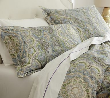 Adriana Paisley Organic Duvet Cover Twin Traditional