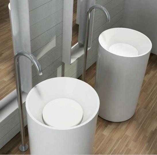 Round Pedestal Sink : Bahtroom pedestal sink modern-bathroom-sinks