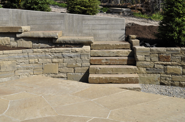 Dry Stacked Block Retaining Wall images
