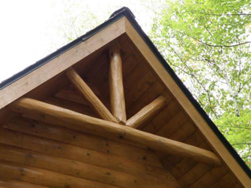 Half Log Smooth Siding Log Home