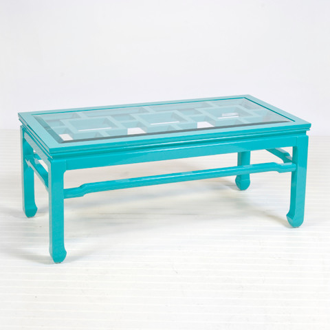 Changright Turquoise Coffee Table Contemporary Coffee Tables By Worlds Away
