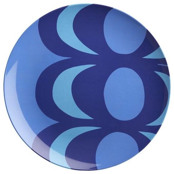 Marimekko Kaivo Blue Melamine Plate - Modern - Dinner Plates - by Crate&Barrel