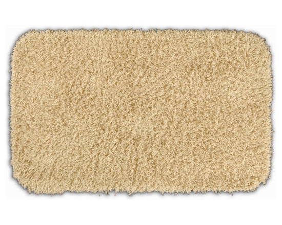 "Sands Rug - Quincy Super Shaggy Sand Washable Runner Bath Rug (2' x 3'4"") - Jazz up your bathroom, shower room, or spa with a bright note of color while adding comfort you can sink your toes into with the Quincy Super Shaggy bathroom collection. Each piece, whether a bath runner, bath mat or contoured rug, is created from soft, durable, machine-washable nylon. Floor rugs are backed with skid-resistant latex for safety."
