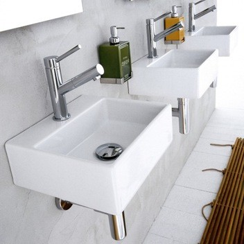 Linea Sink Ceramica II by WS Bath Collections Model Quarelo 53706 contemporary bathroom sinks