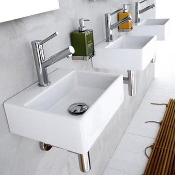 Linea Sink Ceramica II by WS Bath Collections Model Quarelo 53706 contemporary-bathroom-sinks