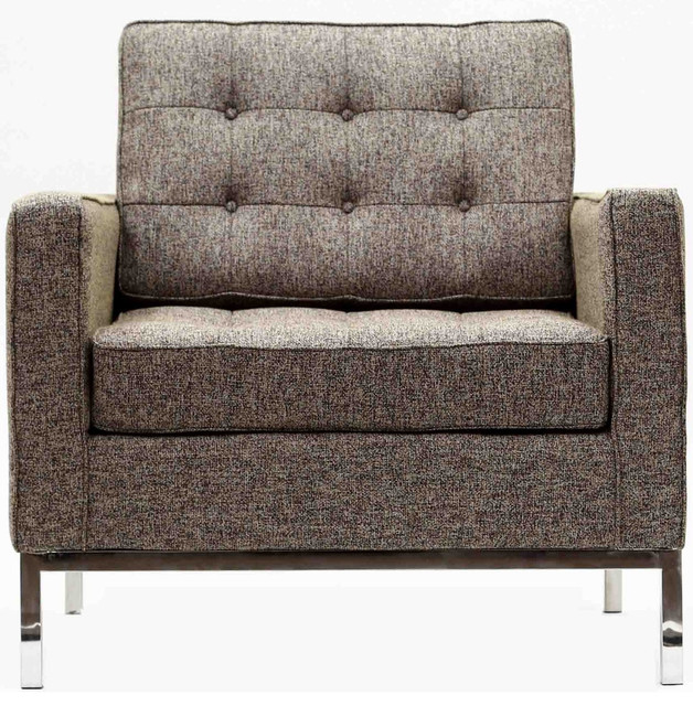 Florence Style Armchair Chair in Oatmeal Wool modern-armchairs-and-accent-chairs
