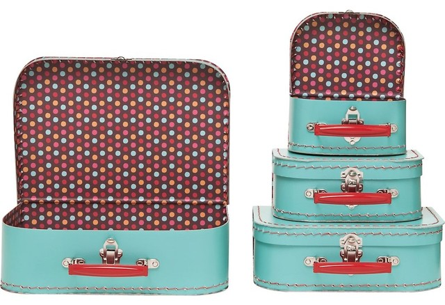 Large Pool Multi Dots Suitcase storage-bins-and-boxes