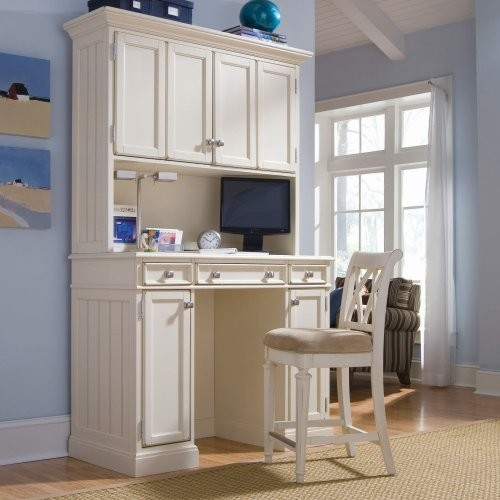 with Hutch - Cream - Contemporary - Desks And Hutches - by Hayneedle