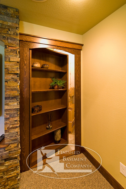 Basement Hidden Storage Traditional Basement Denver