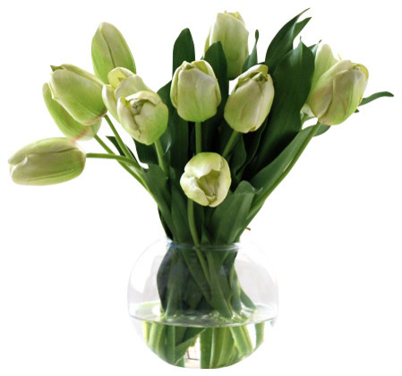 Tulip Bubble Bowl traditional-artificial-flowers
