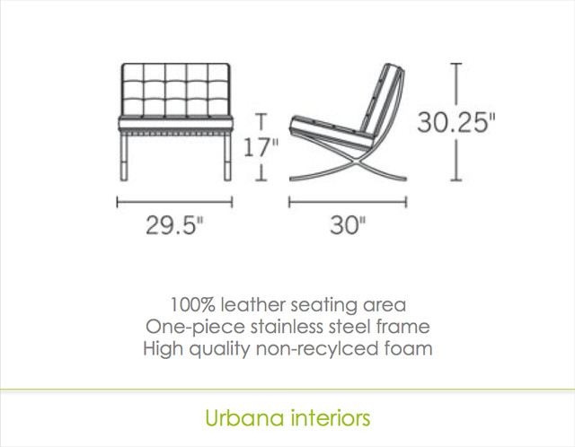 Barcelona Chair reproduction modern-chairs