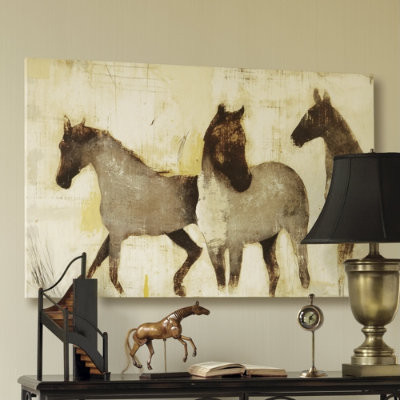 Horses at Rest Giclee by Patrick Wright traditional artwork