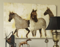 Horses at Rest Giclee by Patrick Wright transitional-artwork