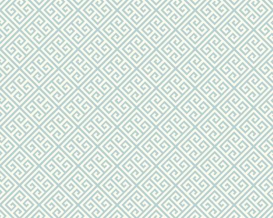 Light Blue Greek Key Vibe Wallpaper -