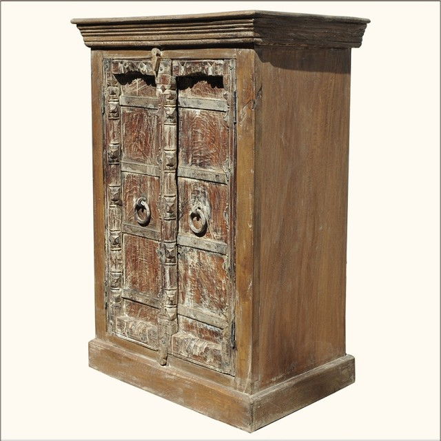 Nottingham Rustic Reclaimed Kitchen Cabinet - Eclectic ...