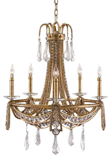 john richard 5 light chandelier traditional. Black Bedroom Furniture Sets. Home Design Ideas