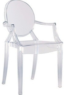 Arm Chair by Lamoderno, Clear, Qty 1 modern-dining-chairs