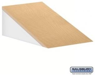 Sloping Hood - for 21 Inch Deep Extra Wide Designer Wood Locker - 1 Wide - Maple modern-storage-cabinets