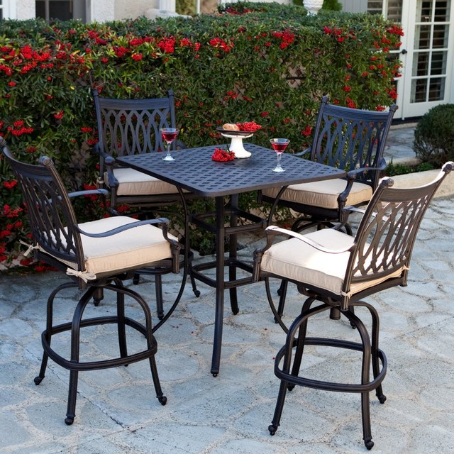 Patio Dining Set Palazetto Milan Collection Cast Aluminum Bar Height Dining