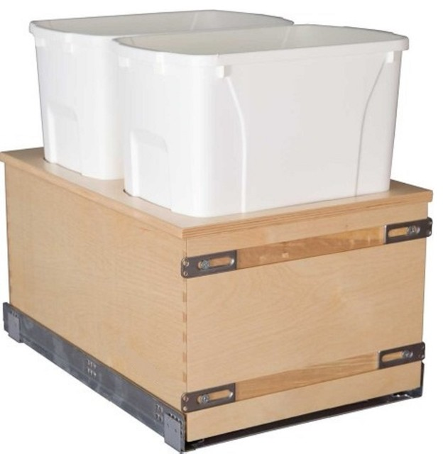 Century Components 50 Qt Double Soft Close Pull Out Waste ...
