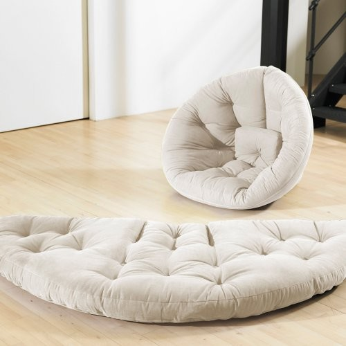 Large Nest Tufted Sleeper Lounge Chair contemporary-futons