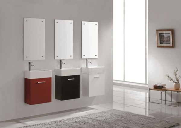 Lille Wall Hung Vanity For Small Bathroom Modern Bathroom Vanities And Sink Consoles