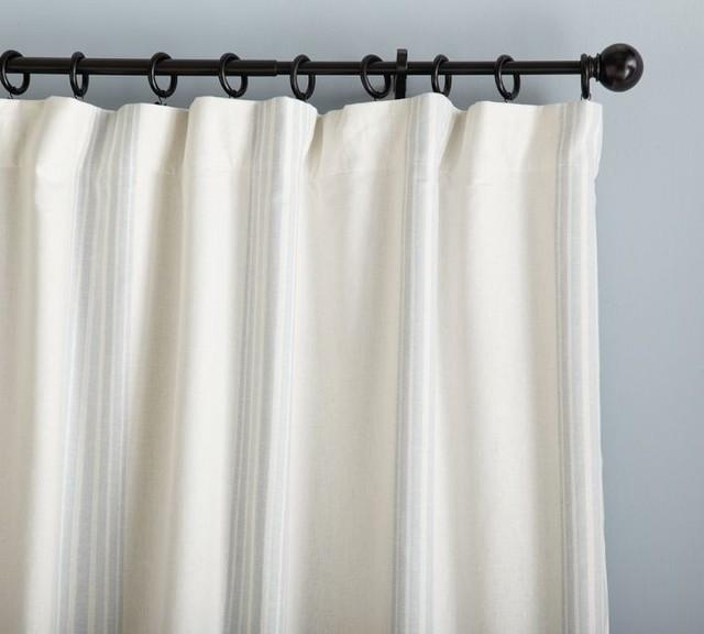 Riviera Stripe Drape traditional-curtains