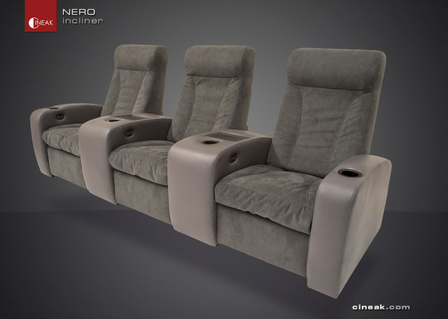Media Room Seating By Cineak Nero Recliner Chairs Other Metro