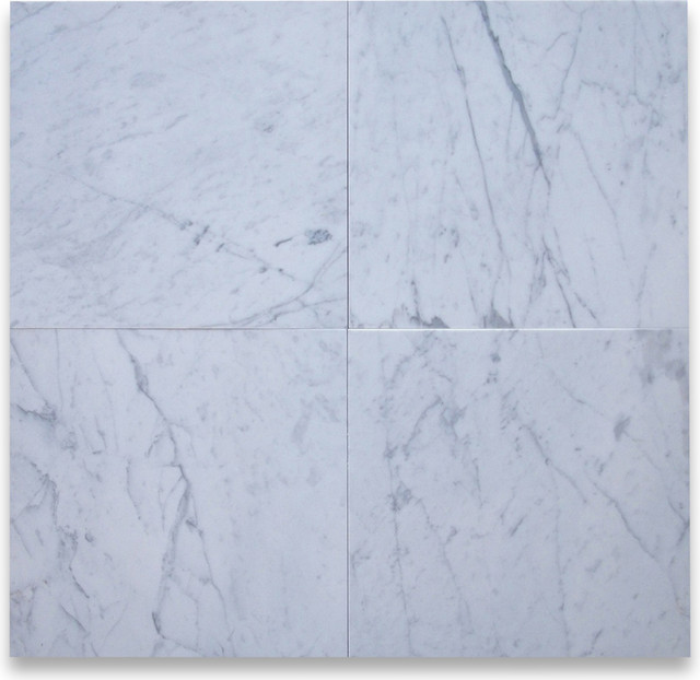 Carrara white 18 x 18 tile honed marble from italy for 18 x 18 marble floor tile