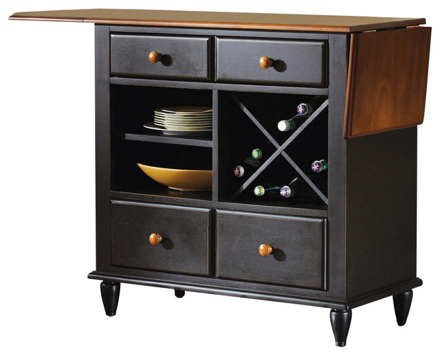 Liberty Furniture Low Country Black Server transitional-buffets-and-sideboards