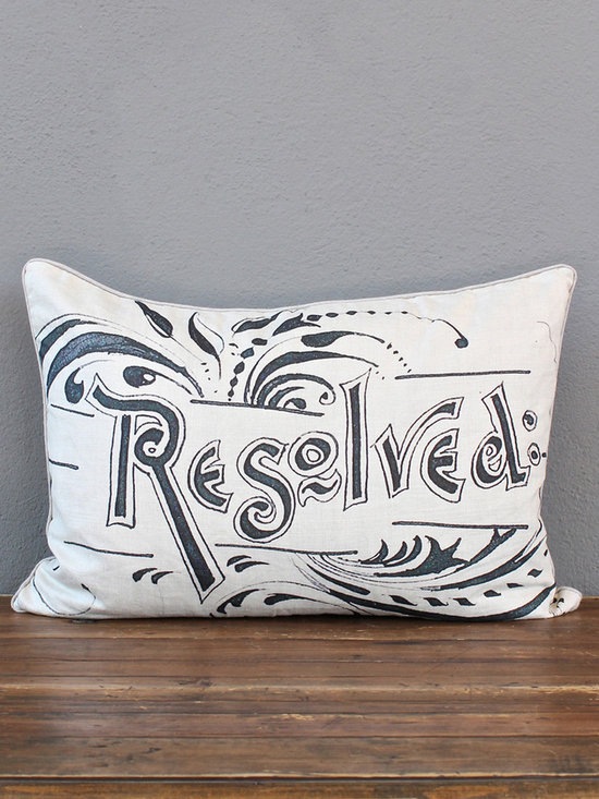 resolved pillow - view this item on our website for more information + purchasing availability: http://redinfred.com/shop/category/free-shipping/resolved-pillow/