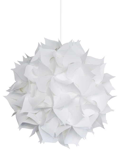 Deluxe Spades Swag Plug In Light Fixture Cool White Glow