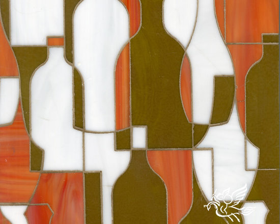 Erin Adams - Bottles - Bottles, a glass waterjet mosaic shown in Sardonyx, Moonstone and Charles, is part of the Erin Adams Collection for New Ravenna Mosaics.