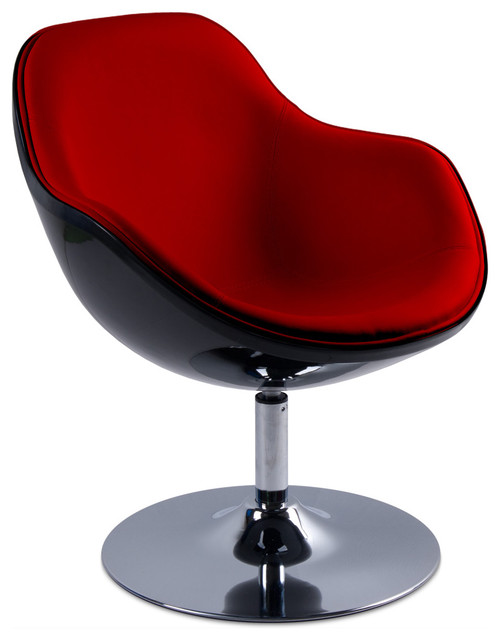 Tequila Red Black Lounge Chair Modern Living Room Chairs