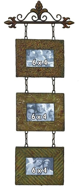 36in. High Metal Wall Photo Frame traditional-picture-frames