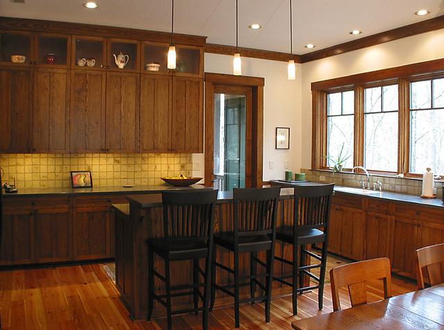 Webb Cove Asheville Residence traditional-kitchen