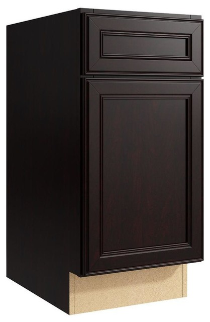 Cardell Cabinets Boden 15 in. W x 31 in. H Vanity Cabinet Only in Coffee brown - Contemporary ...