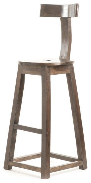 """26"""" Rustic Wooden Barstool - Rustic - Bar Stools And ..."""