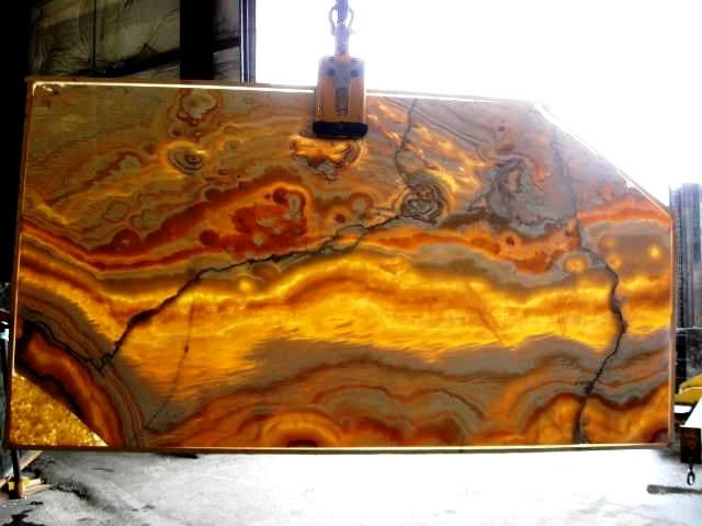 Onyx Slabs Seattle : Honey onyx backlit seattle by crocodile rocks