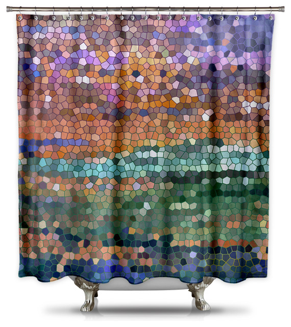 Catherine Holcombe Egyptian Royalty Fabric Shower Curtain Standard Size Contemporary Shower