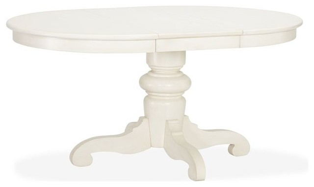 Tivoli Extending Pedestal Dining Table Almond White  : traditional dining tables from www.houzz.com size 640 x 380 jpeg 15kB