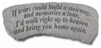 If Tears Could Build A Stairway Memorial Bench - Small modern-upholstered-benches