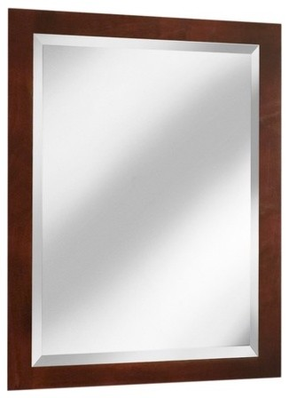"Vintage Series 24"" x 33"" Maple Framed Mirror in Burgundy Finish modern-home-decor"
