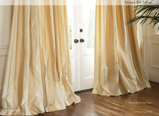 Striped Silk Drapery Tropical Curtains Miami By