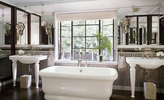 L a bathroom featured in architectural digest for Architectural digest bathroom ideas