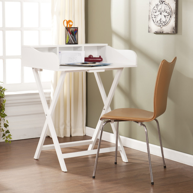 upton home marion white folding craft student desk table